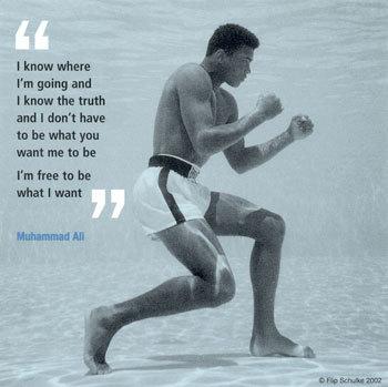 Muhammad Ali Boxing Underwater